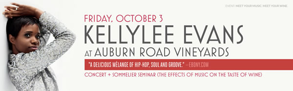 Kellylee Evans at Auburn Road Vineyard – Wine & Music Experience  @ Auburn Road Vineyard | Pilesgrove | New Jersey | United States